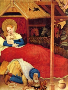 Christ's Birth, Conrad Von Soest, fl. 1370-1420, Stadkirche St. Nikolaus, Bad Wildungen, Germany