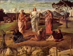"""""""Transfiguration of Christ,"""" Giovanni Bellini, Galleria Nazionale di Capodimonte, Naples, Italy.  d. 1516."""