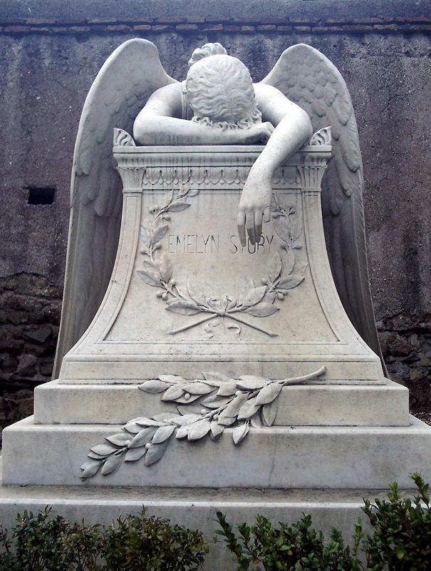 """""""Angel of Grief"""", William Wetmore Story, 1894, Cimitero degli stranieri acattolici al Testaccio, Rome, Italy."""