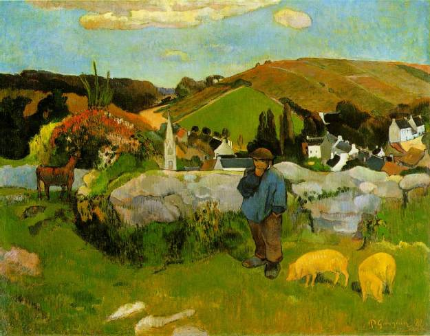 "Gauguin, ""Swineherd"", Los Angeles County Museum of Art"