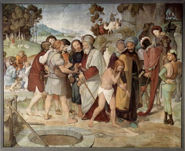 """Joseph sold into slavery"", Johann Friedrich Overbeck, 1816, Alte Nationalgalerie, Berlin, Germany."