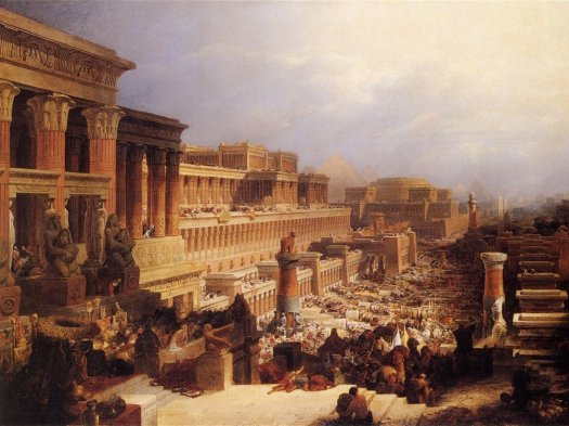 """Departure of the Israelites"", by David Roberts, 1829"