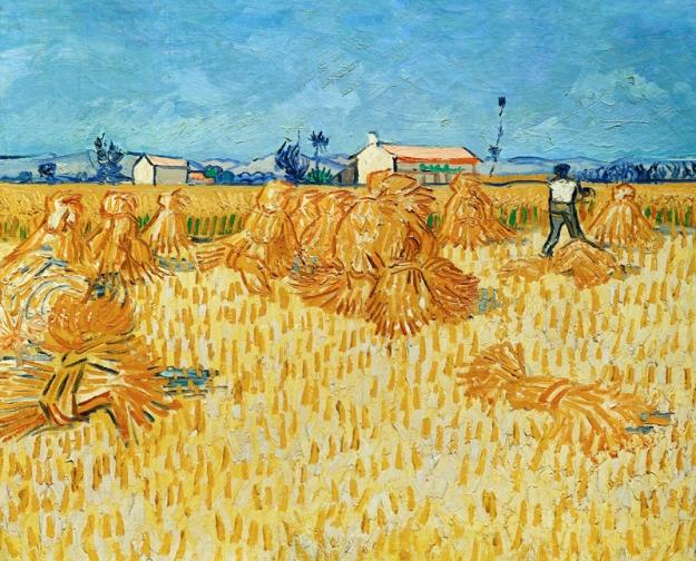 "Van Gogh, ""Harvest in Provence"", 1888, Israel Museum, Jerusalem"