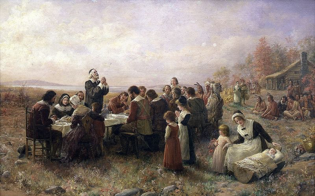 Brownscombe_First Thanksgiving
